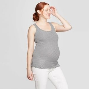 Isabel Maternity Striped Scoop Neck Tank Top